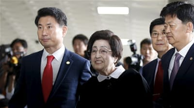 Widow of former South Korea president in visit to North