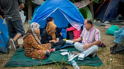 Afghan refugees find safety and shelter in Athens park