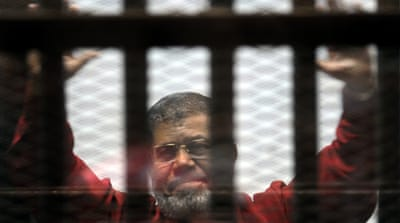 Morsi told a court earlier this month that he had stopped eating out of fears for his life [AP]