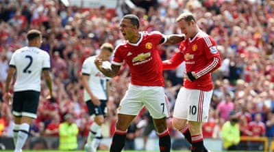 United started the game with four new signings, including Memphis Depay [Getty Images]