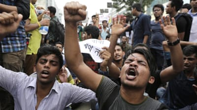 Bangladesh students protest education tax