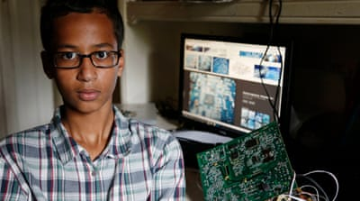 Ahmed Mohamed's father wants to take his son on a pilgrimage to the Muslim holy city of Mecca [AP]