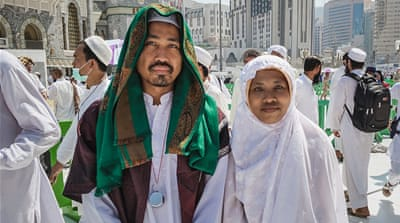 Faces from around the world in Mecca