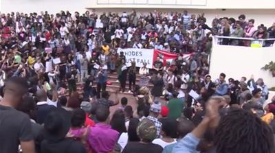 South African students protest over use of Afrikaans