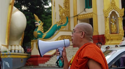 Buddhist monks in Myanmar celebrate repressive laws