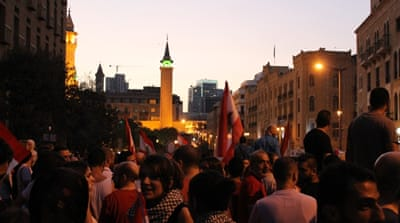Protesters reclaim public space in Beirut