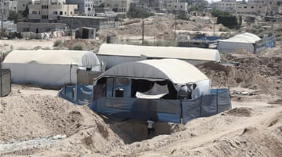 Egypt's demolition of homes and flooding of tunnels along the Sinai-Gaza border has been widely criticised [EPA]