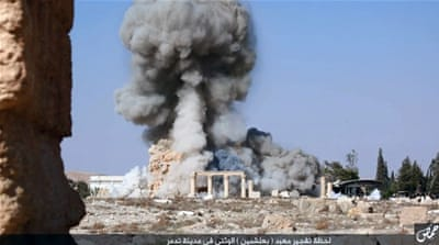 ISIL bombed ancient archaeological sites in Palmyra last month [AP]