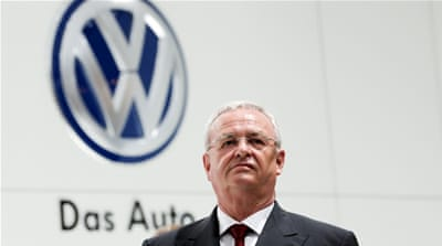 Winterkorn, 68, resigned following a crisis meeting of the Volkswagen supervisory board's executive committee [Reuters]