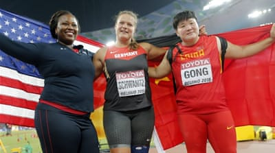 Shot putters redefining feminine ideals