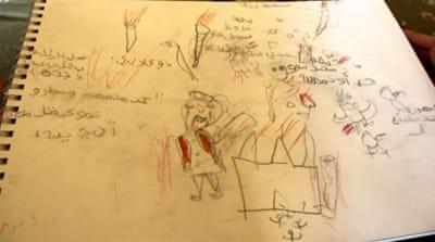 Children's art work is symbolic of the war experience [Al Jazeera]