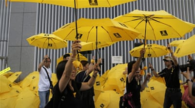 Rallies in Hong Kong mark anniversary of mass protests