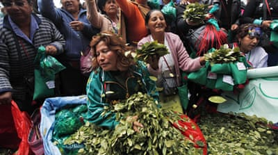 Indigenous people chew the mild stimulant coca, which has deep cultural and religious value in the region [Juan Karita/AP)