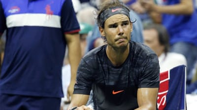 This was Nadal's first grand slam defeat after winning the first two sets of a match [EPA]