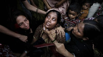 The fire that erupted in the Ali Enterprises factory in Karachi, Pakistan, killed 289 garment workers [Fareed Khan/AP]