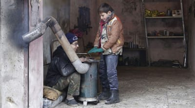 Snow and cold weather grip war-torn Syria