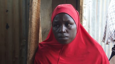 Dada Nguru was pregnant when she fled a Boko Haram attack on her village. She helped other fleeing women give birth on the roadside [Caelainn Hogan/Al Jazeera]