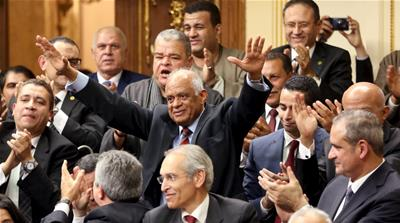 Ali Abdel Al is elected speaker of Egypt's parliament [REUTERS]