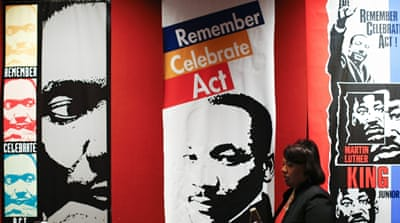 The national holiday in memory of Martin Luther King occurs every year on the third Monday of January [ERIK S. LESSER/EPA]