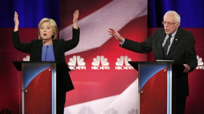 The Democratic debate between Sanders and Clinton has intensified [Randall Hill/Reuters]