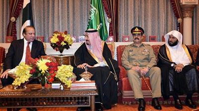 According to Pakistani media, King Salman hailed reconciliatory efforts by Pakistan [Handout of Pakistani PM's office]