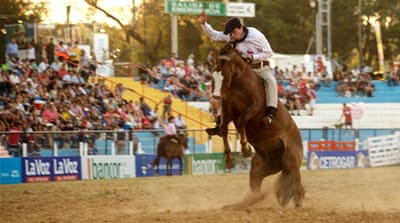 Argentina's gauchos rock and roll at traditional rodeo