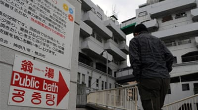 In Kamagasaki, doya-gai of Osaka, officials have a five-year plan to transform the district, as an ageing population and fewer jobs have led to a decline in recent years. [Joe Jackson/Al Jazeera]