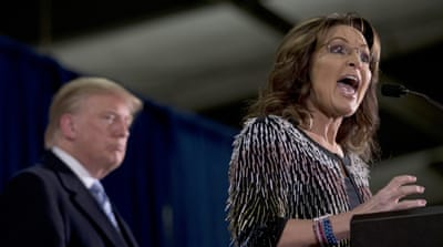 Palin said Trump would take on ISIL and political correctness in the US establishment [Mary Altaffer/AP]