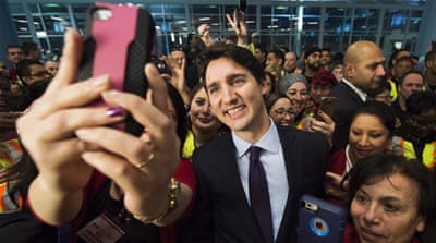 "Writer Peter Stevenson says there's something ""refreshing"" about Trudeau's refugee policy [Nathan Denette/The Canadian Press via AP]"