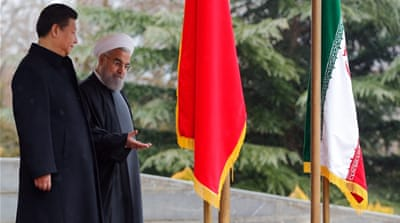 Rouhani is trying to sell the Chinese economic interest in terms of Iranian political preferences, writes Habashi [AP]