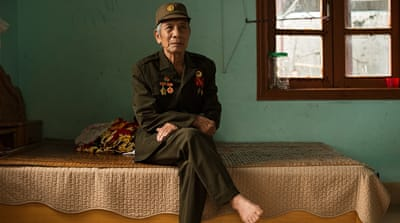 Nguyne Viet Dem decided to join the Viet Minh resistance movement when he was just 16 [Vincenzo Floramo/Al Jazeera]