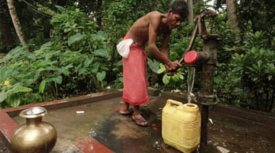 Arsenic-contaminated groundwater has killed scores of people in West Bengal. Experts recommend water in wells be tested for arsenic at least twice every year [Shaikh Azizur Rahman/Al Jazeera]