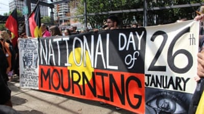 For indigenous Australians, January 26 is a day of mourning [Jarni Blakkarly/Al Jazeera]