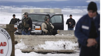 Deadly shooting during arrest of US militiamen