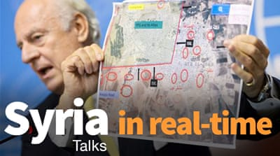 Syria peace talks in real-time
