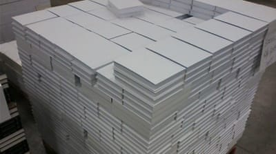 The 168:01 project allows the public to buy white books which will be replaced with art titles [Courtesy of Wafaa Bilal]