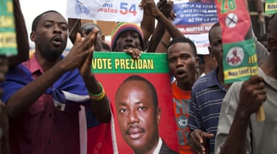 Opposition candidate Jude Celestin came in second in Haiti's last round of elections [Andres Martinez Casares/Reuters]