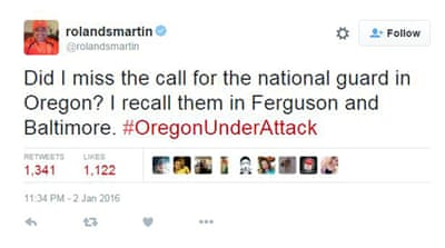 Double standards cited amid armed protest in Oregon