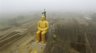 The giant statue of Chinese late chairman Mao Zedong in China's Henan province [Reuters]