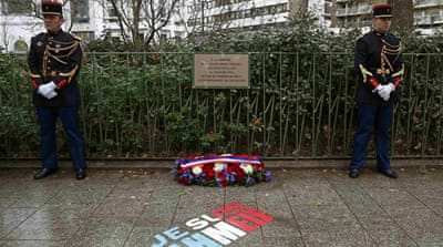 This week, France commemorates the victims of last January's attacks on the satirical weekly Charlie Hebdo and a Jewish supermarket [Eric Gaillard/REUTERS]