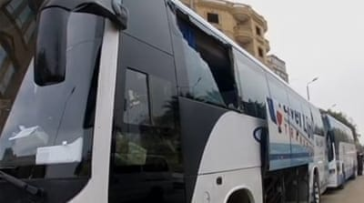 No casualties were reported in the attack on the tourist bus [Reuters]