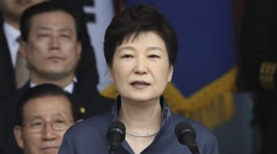 "Park said defections by North Koreas were increasing ""drastically"" [Lee Jin Man/ EPA]"
