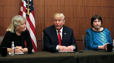 Trump invited Bill Clinton's accusers to the second debate [Mike Segar/Reuters]