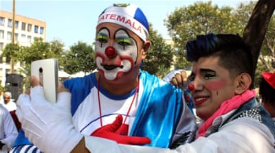 Clowns gather in Mexico City for annual convention