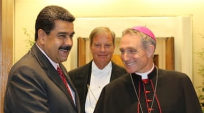 Maduro made the talks offer after meeting the pope in the Vatican [EPA]