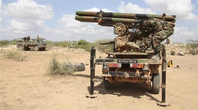 A military offensive launched in 2014 by AU forces and the Somali army pushed al-Shabab out of major strategic centres [lyas A. Abukar/Reuters]