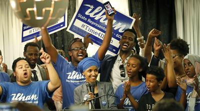 Ilhan Omar, first Somali American elected to the Minnesota Legislature on November 8 [Carlos Gonzalez/AP]