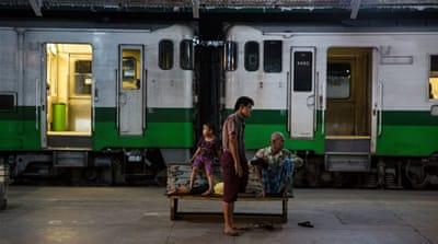 Life at Yangon Central Railway Station