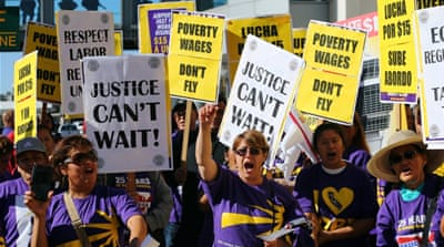 US sees largest protests calling for $15 minimum wage