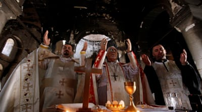 Mosul's Christian exiles have little hope of return